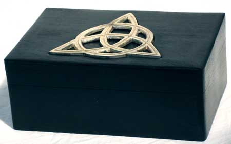 Handcrafted Triquetra Tarot Deck Holder