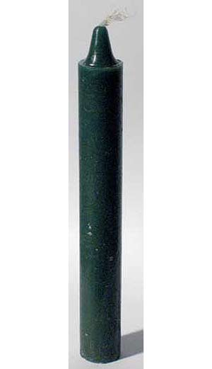 "Green 6"" Taper Candle"
