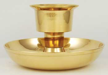 Brass Taper and Pillar Candle Holder
