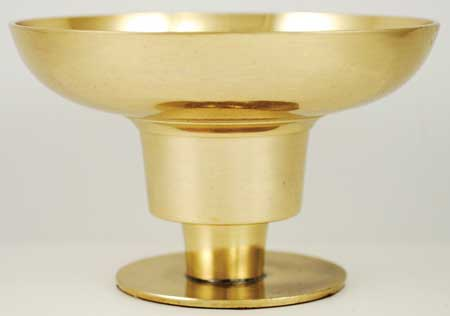 "Brass Taper and Pillar Candle Holder 4 1/4"" diameter"