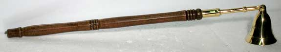 Brass Snuffer wtih Wood Handle