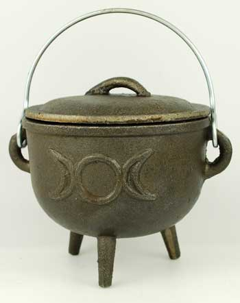 Medium Triple Moon Cast Iron Cauldron