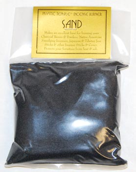 1lb Black Incense Burner Sand