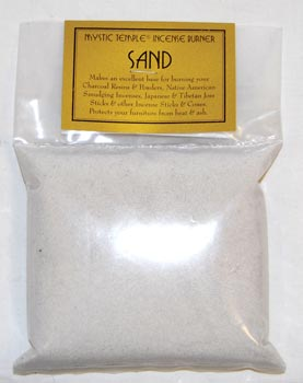 1lb White Incense Burner Sand