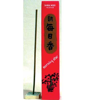 Sandalwood Morning Star Stick Incense & Holder (50 pack)