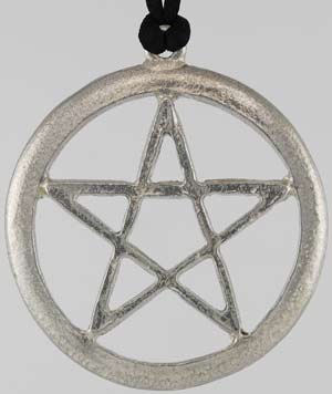Large Pewter Pentacle Pendant