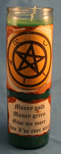 Money Spell Candle by Laurie Cabot