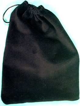 Large Black Velveteen Bag (5 x 7)