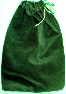Large Green Velveteen Bag (5 x 7)
