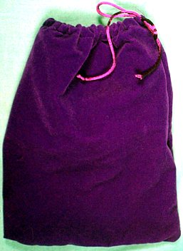 Large Purple Velveteen Bag (5 x 7)